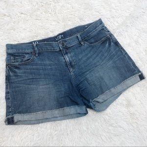 Ann Taylor Loft Jean shorts Sz 10 bottoms pants